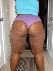 Watch the shaved holes of horny ebony..