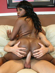 Ebony babe Amile Waters getting fucked..