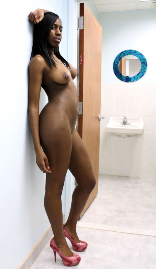Ebony in the locker room fucked by big cock 4