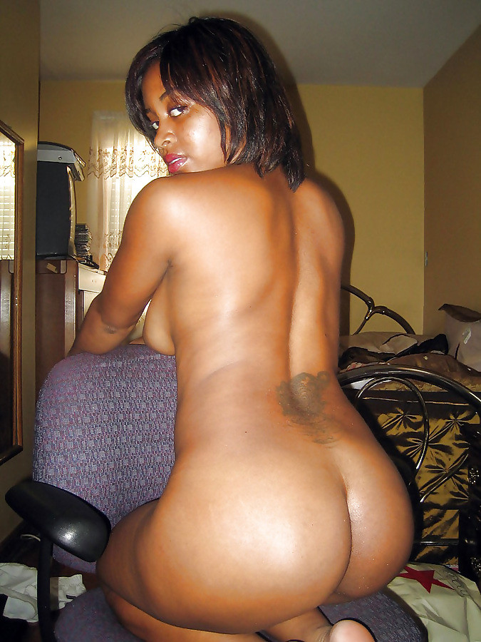 Nude ebony on tractor think, that